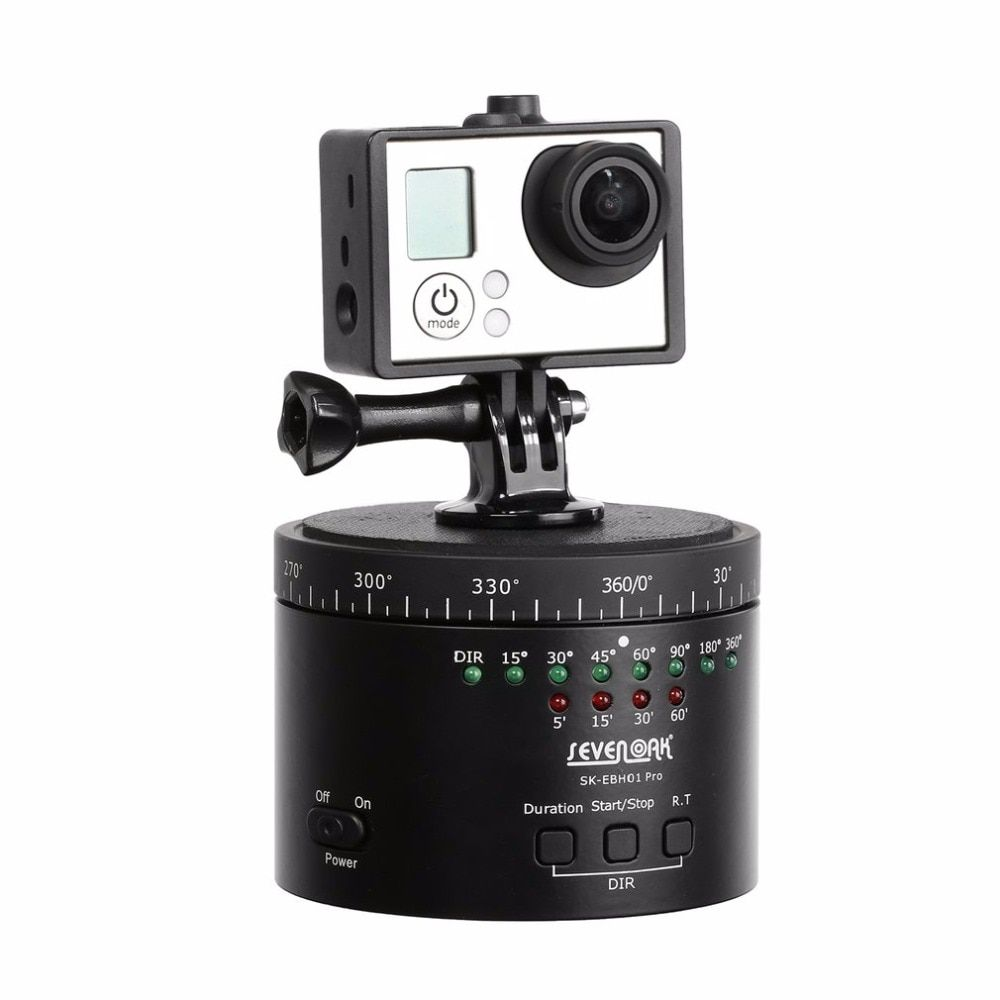 SEVENOAK SK-EBH01 Pro Electronic Panorama Delay Time Lapse Ball Tripod Head Gimbal with Tripod-mountable Turntable Base