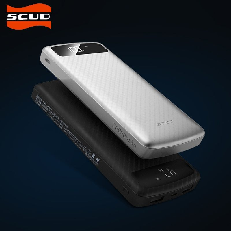 SCUD 20000mAh Power Bank  Universal external battery Dual USB output portable charger Powerbank with Type-c Micro USB input