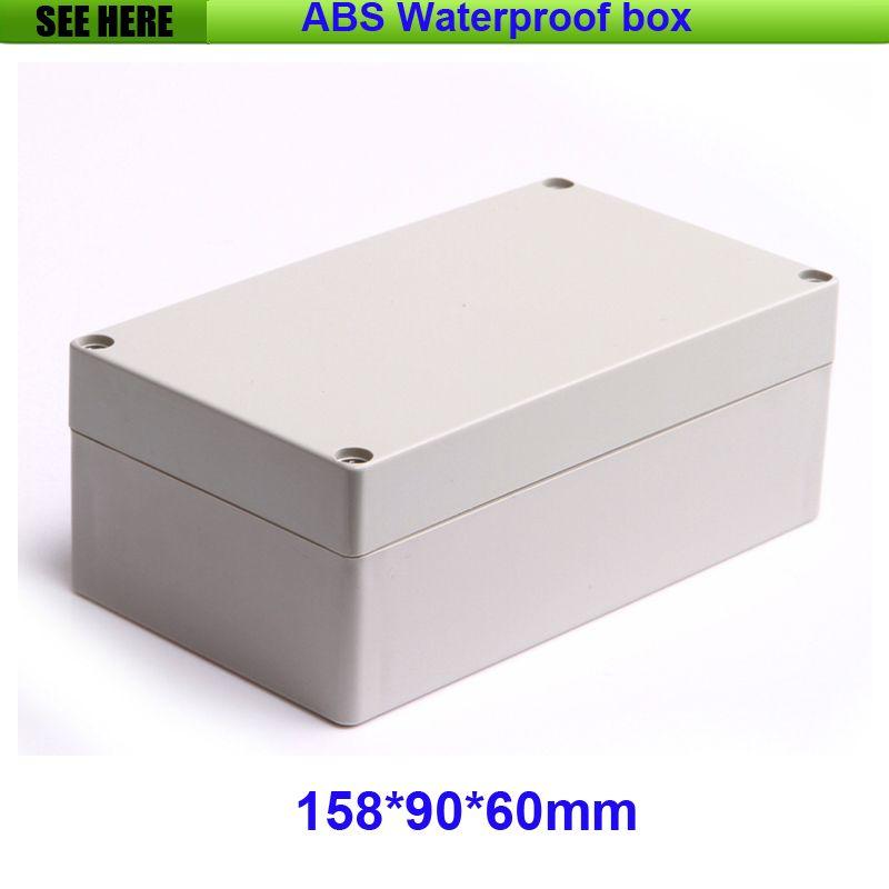Бесплатная доставка Пластиковые водонепроницаемый ящик IP65 Пластиковые Электронные Дело Пользовательские Коробки проекта 158 * 90 * 60 мм