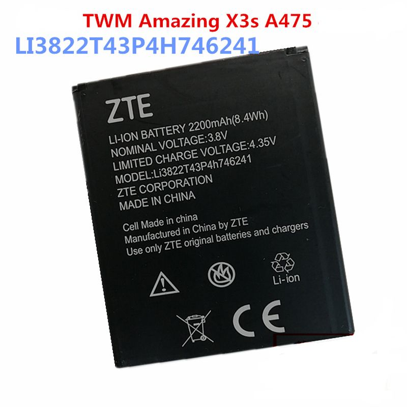 Original ZTE Li3822T43P4h746241 phone battery For ZTE Blade A465 A475 2200mAh