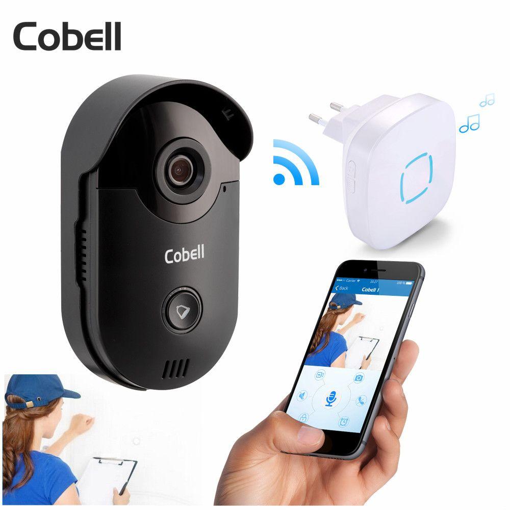 Cobell HD 720 P Video-türsprechanlage Intercom Wifi Türklingel Home Security Nachtsicht Drahtlose Türklingel-türsprechanlage