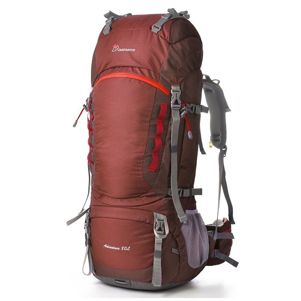 Mountaintop 80L Large Capacity Long Haul Backpack Internal Frame Hiking Climbing Bag Quality Outdoor Sport Packs with Rain Cover