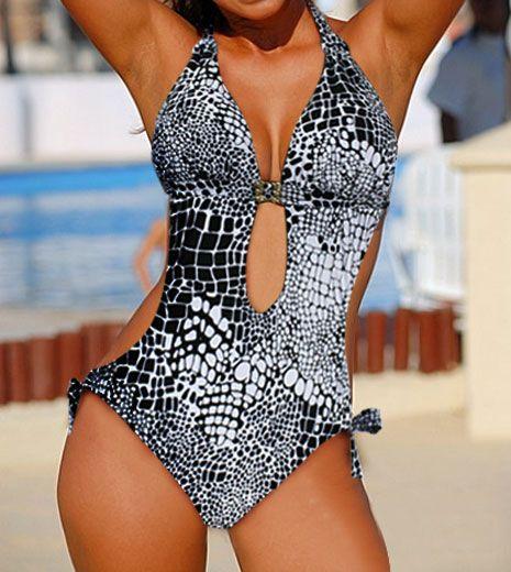Sexy galets imprimer Une Pièce MONOKINI rembourré dames maillot de bain bikini MAILLOT DE BAIN taille M L XL XXL XXXL livraison gratuite