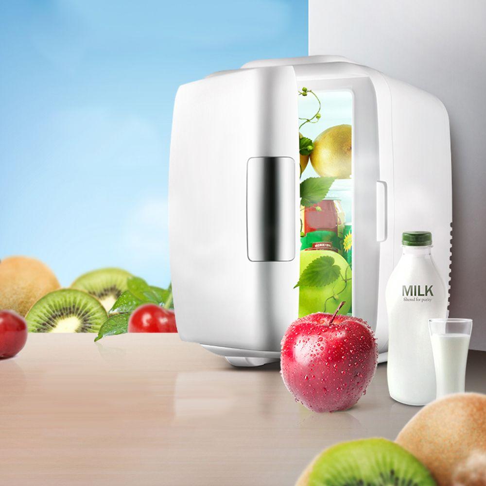 Mini Vehicle Refrigerator 9L Dual-use Portable Fridge Home Car 220V 12V Freezer Cooling Warming Low Noise Picnic Traveling