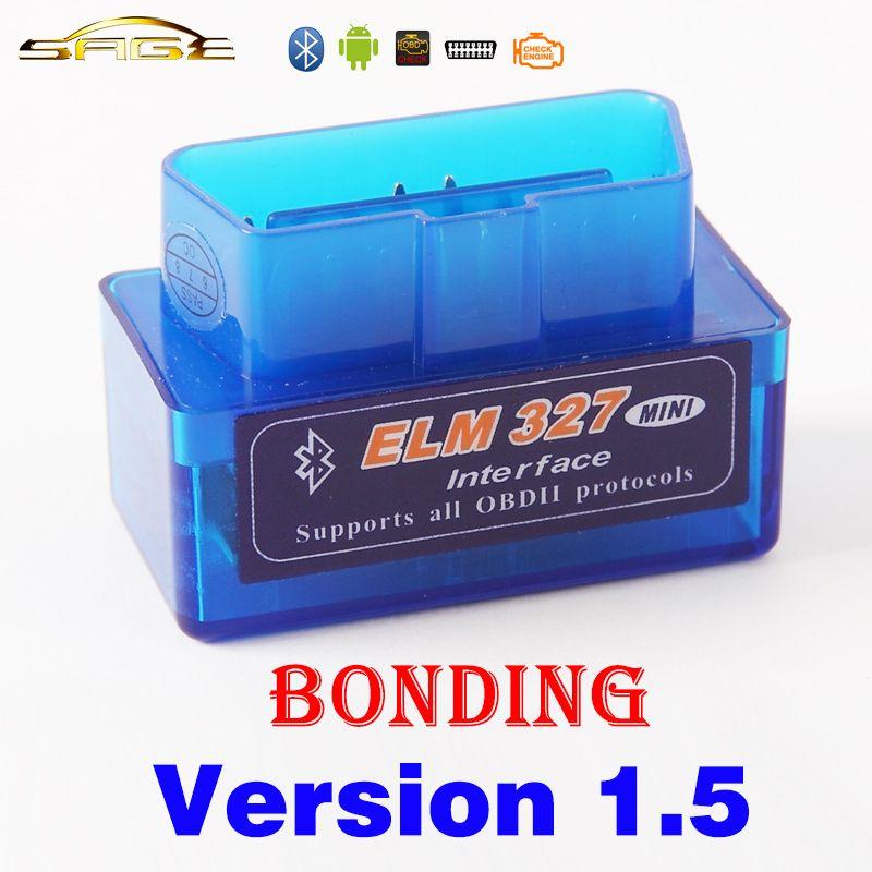 Viecar Bluetooth ELM 327 Bonding V1.5 Super MINI ELM327 Version 1.5 OBDII / OBD2 for Car Code Reader Android Torque
