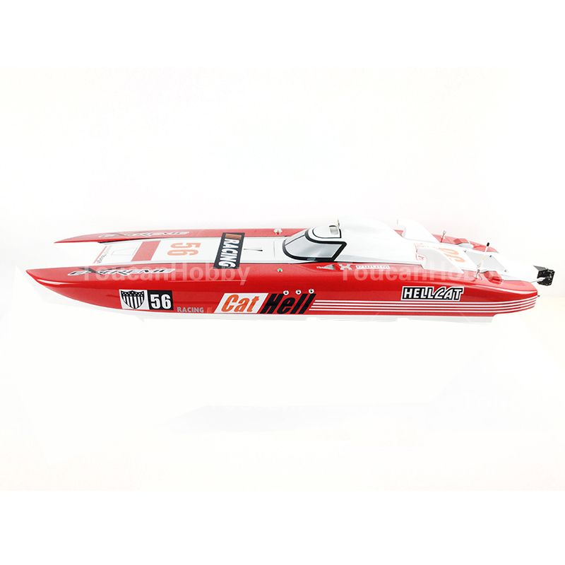 G30E ARTR FiberGlass Gasoline RC Racing Boat 30CC Engine Water Cooling Sys Red