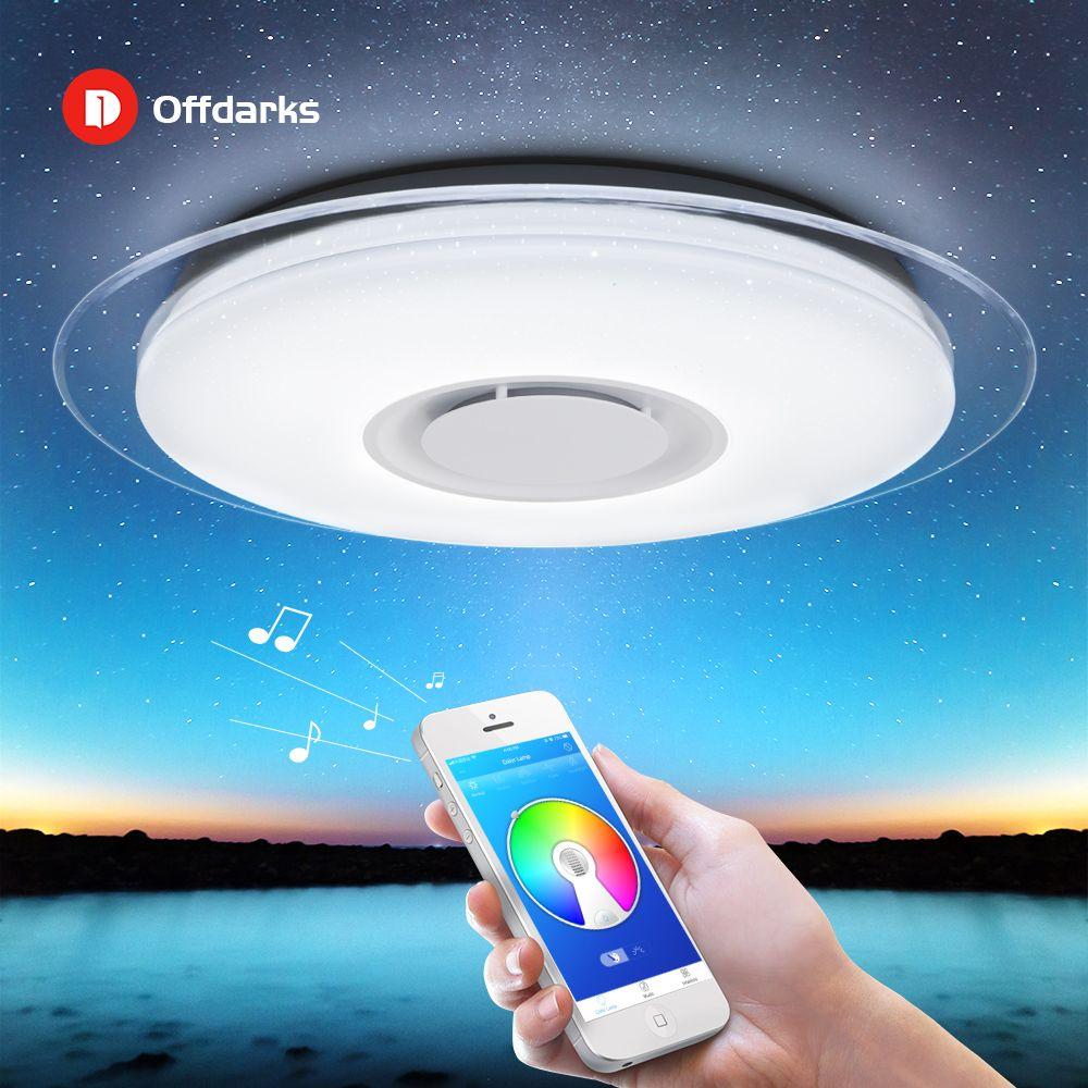 Plafond moderne à LEDs lumières maison lustre éclairant 25W 36W 52W APP Bluetooth musique lumière chambre lampes Smart plafonnier