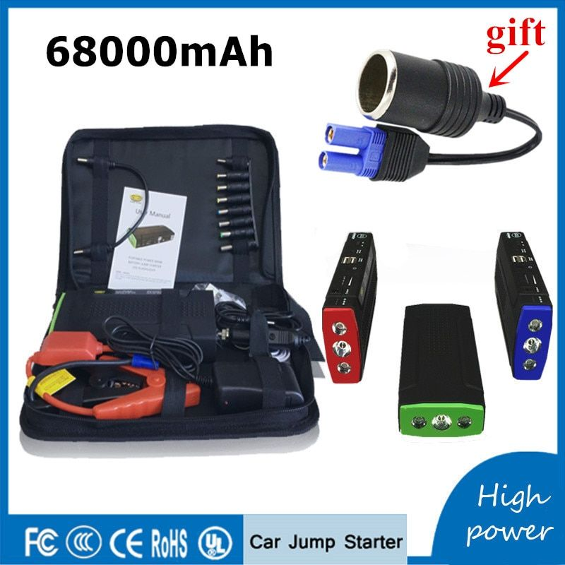 Multi-Function Petrol Diesel Car Jump Starter 12V Portable Lighter Power Bank Car Charger For Car Battery Auto Starting Device