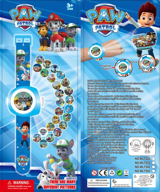 New 3D Dog Patrol Projection Watch Baby Cartoon Digital Children Watches Boy Girl Clock bayan kol saati Relogios Timepiece