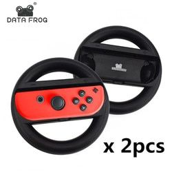 2 Pcs Racing Game Steering Wheel For Nintend Switch Remote Helm Game Wheels For Nintendo Switch NS Controller