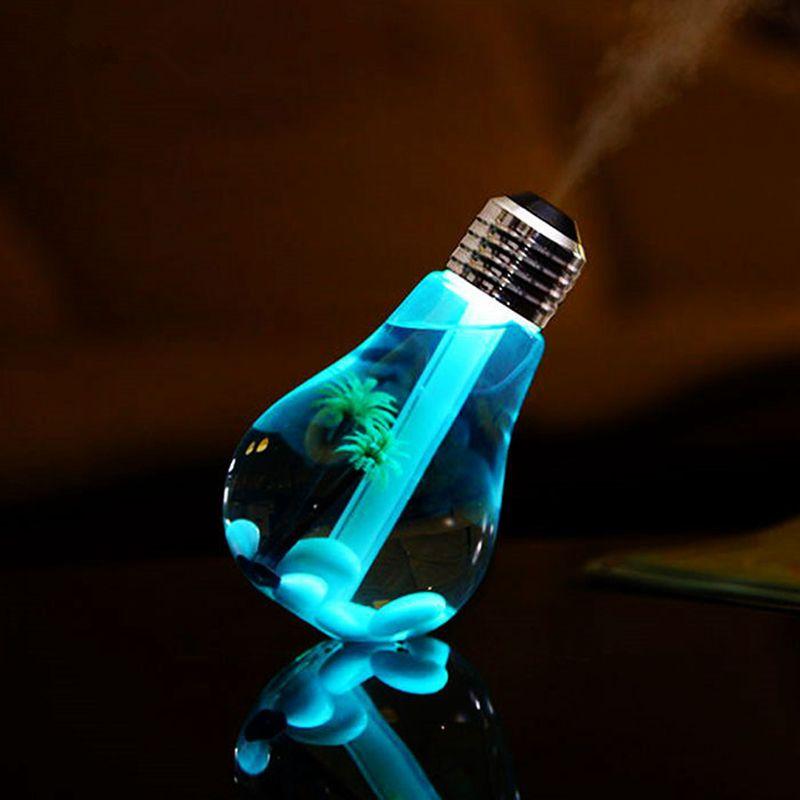400 ml lampe à LED humidificateur à ultrasons d'air pour la maison diffuseur d'huile essentielle atomiseur désodorisant brumisateur avec LED veilleuse