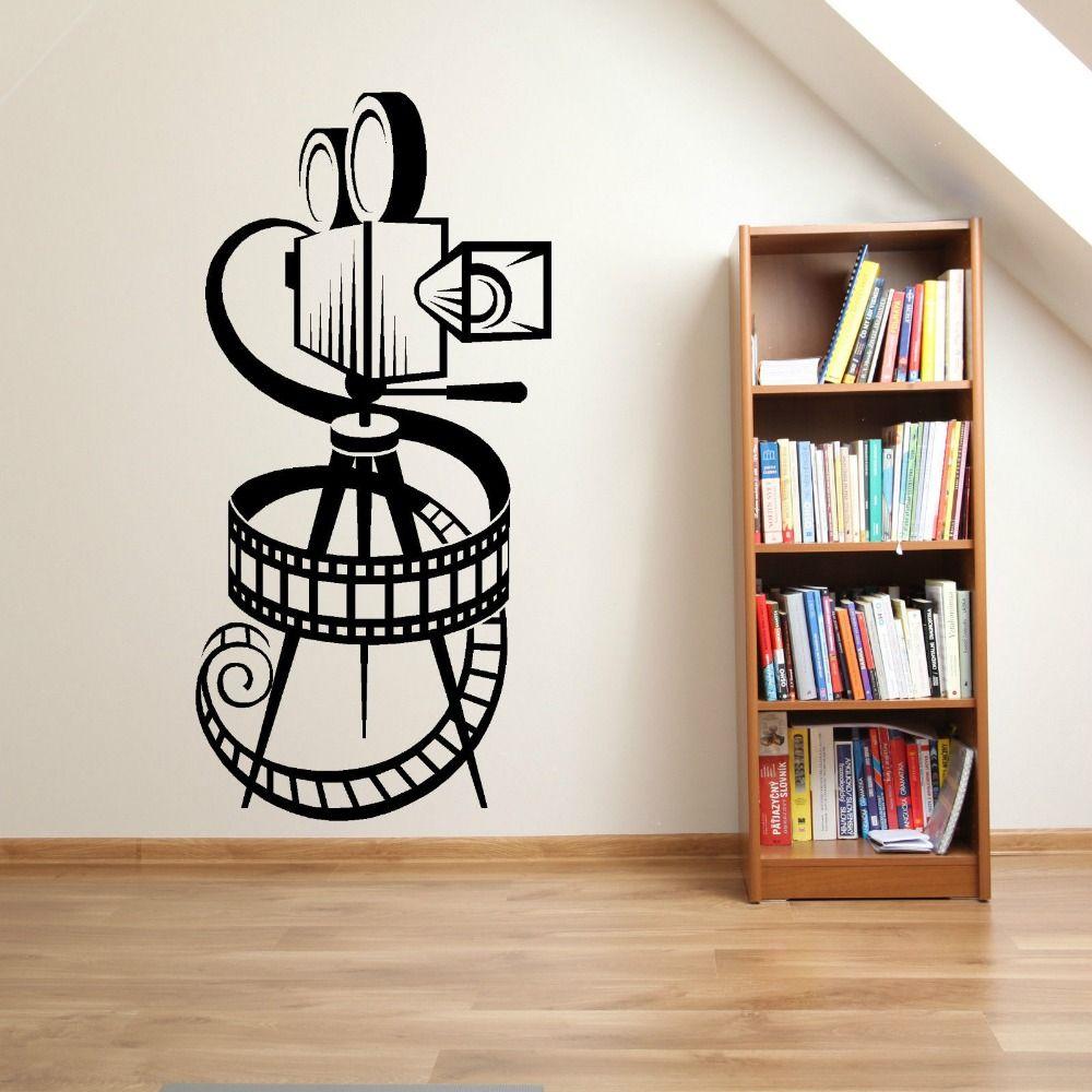FILM caméra FILM bobine HOME cinéma VINTAGE théâtre vinyle mur art autocollant décalque mode décoration murale pour salon D539