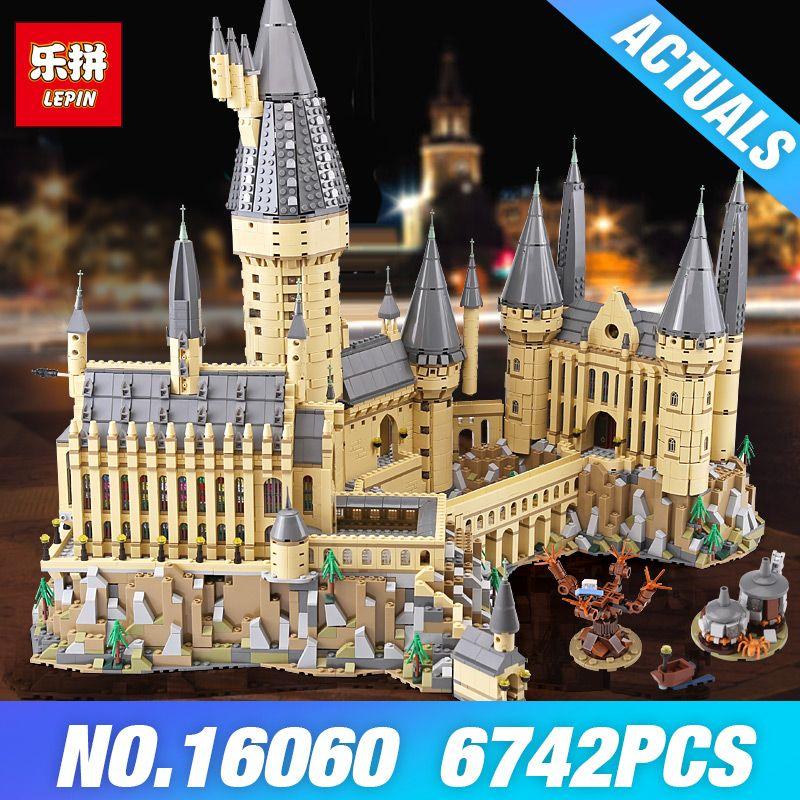 DHL Lepin 16060 Harry Movie Potter 71043 Hogwarts castle Magic School Model Building blocks Bricks DIY Toys for Children Gifts