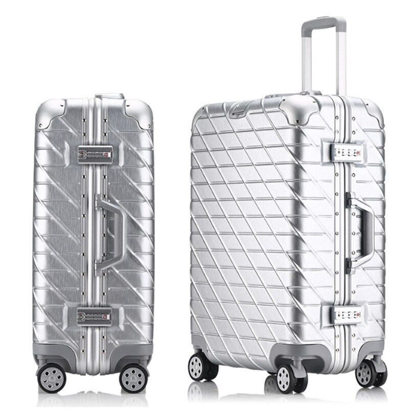 New Fashion Aluminum Alloy pull rod suitcase 20/24/29 inch metal luggage fashionable new type of suitcase luggage pull rod box
