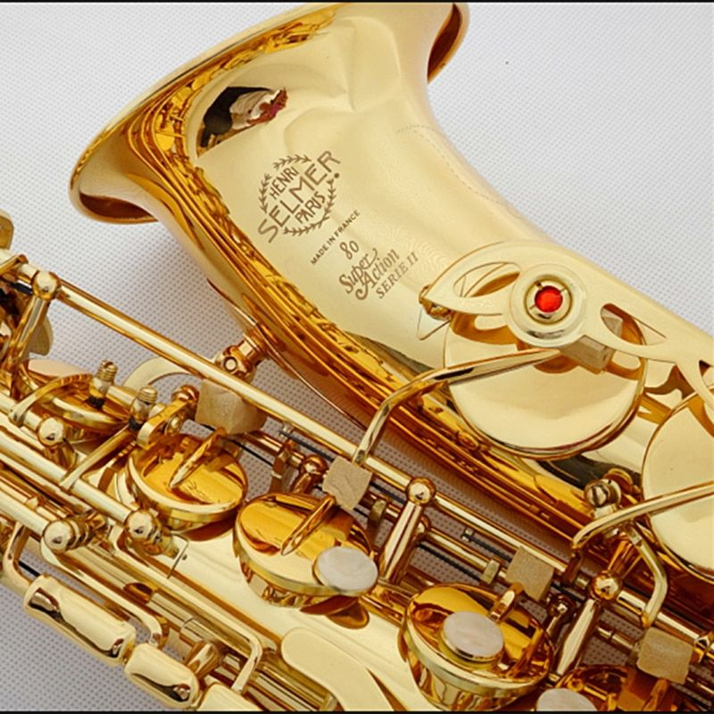 Saxphone Alto Selmer 802/54 Gold Plated Sax bE Saksafon R54 Black Nickel Gold Saxofone musical instruments professional Saxofoon