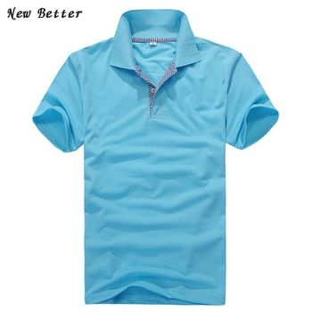2019 summer style polo men, men's short sleeve polo shirts Slim fit Shirt, Designer Brand Men Breathable Solid polo shirts