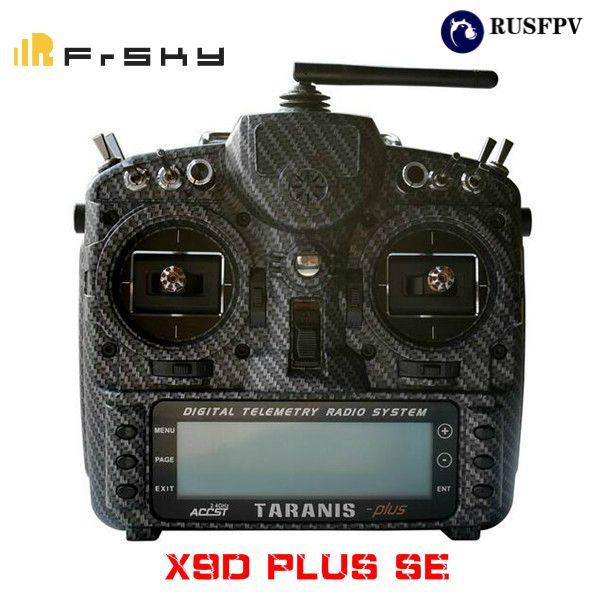 FRSKY 2.4G 16CH Taranis X9D Plus SE Transmitter SPECIAL EDITION M9 Sensor Water Transfer Case Mode 2 CARBON FIBER/BLAZING SKULL