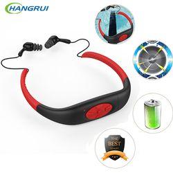 Hangrui IPX8 Waterproof Bluetooth Headset 8GB Underwater Headphone Sport MP3 Player Stereo Audio Neckband For Diving Swimming