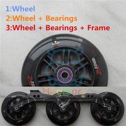 125mm Skating ILQ-11 Bantalan ILQ-9 Inline Skates Kecepatan Roda Spacer 3X125mm Inline Speed Skating Bingkai Dasar