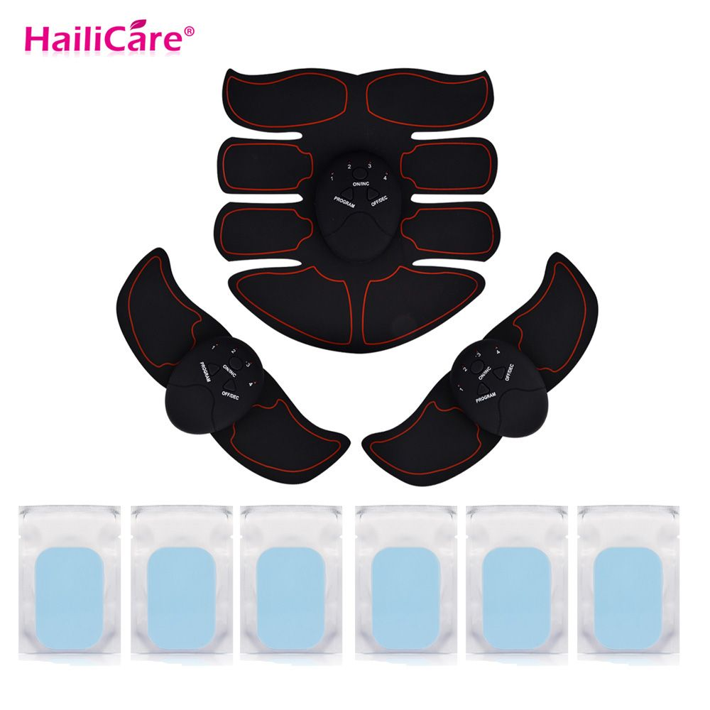 USA Stock Weight Loss Abdominal Hips Muscle Stimulator Replacement Gel Pads EMS ABS Trainer Body EMS Stimulator Body Massage