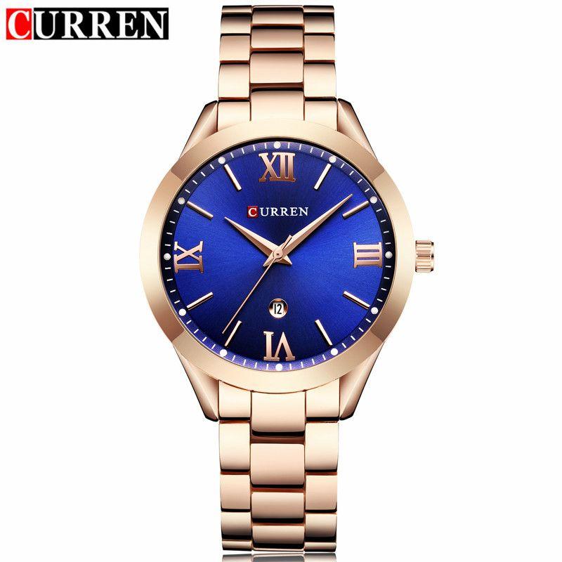 Curren Watches Brand Luxury Women Full Steel Quartz Watch 2018 Fashion Casual Ladies Dress Elegance Wristwatch relogio feminino