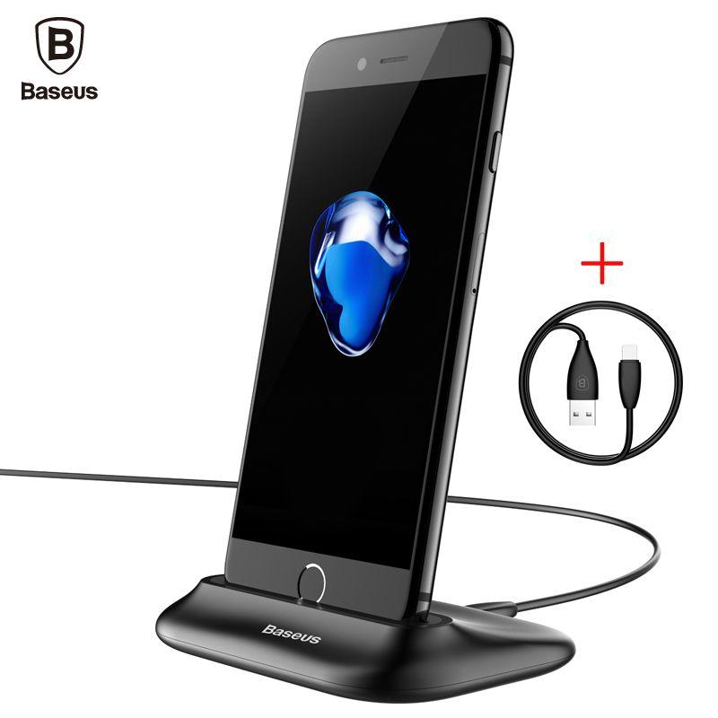 Baseus Chargeur Dock Pour iPhone 7 6 6 s Plus se 5S 5 bureau D'accueil USB Data sync Charge Dock Station Stand + Câble Pour iphone