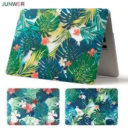 JUNWER Beautiful Print Case For Apple Macbook Air Pro Retina 11 12 13 15 Laptop Cover for Mac book Pro 13.3 with Touch Bar A1932