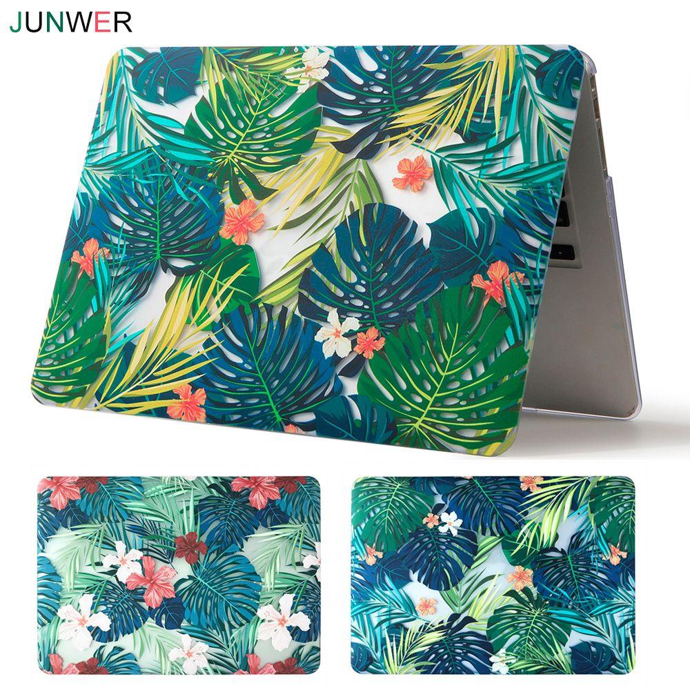 JUNWER Schöne Für Apple Macbook Air Pro Retina 11 12 13 15 Laptop Case für Mac book Pro 13 15 mit Touch Bar
