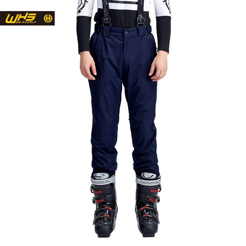 WHS новый Мужчины лыжные брюки брендов Открытый Теплый Сноуборд брюки мужской водонепроницаемый брюк спорт отдых брюки зима лыжные штаны ве...