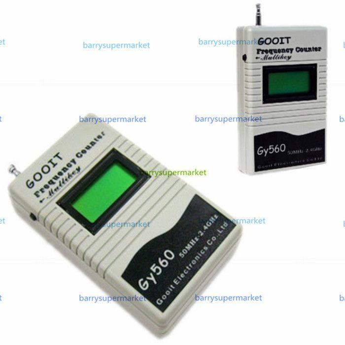 Testeur de compteur de fréquence GY560 pour émetteur-récepteur Radio bidirectionnel GSM 50 MHz-2.4 GHz écran LCD à 7 chiffres avec compteur de Signal