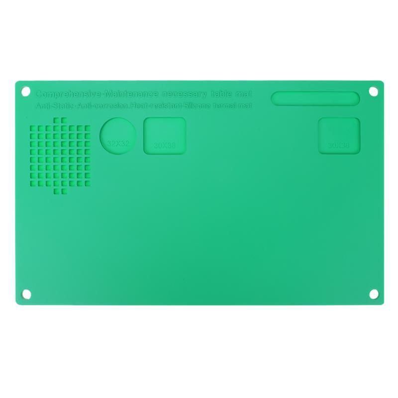 330x200mm Magnetische Wärmedämmung Schreibtisch Matte Silikon Telefonreparatur Pad Wartung Plattform für Bga Reparaturstation