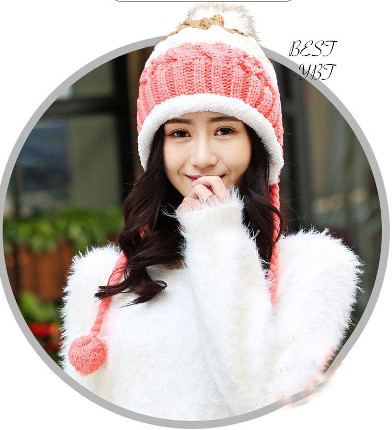 2017 прекрасные Для женщин теплые На зиму; высокого качества кашемировые теплые зимние Вязание мяч Hat