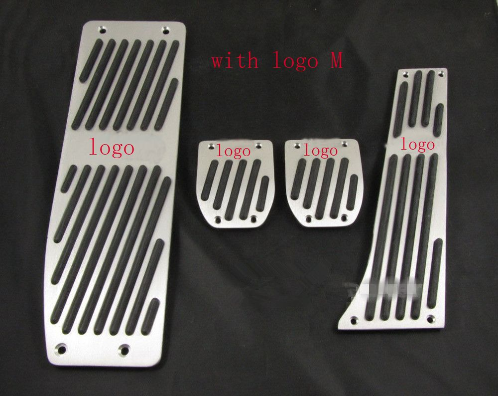 XYIVYG Aluminum Foot Rest Pedals Set Fit for BMW E30 E36 E46 E87 E90 E91 E92 E93 M3 M Tech MT Silver Color