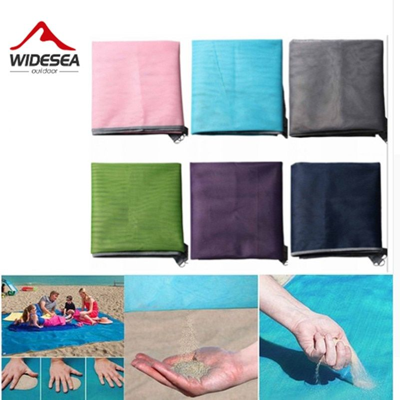 Widesea sandbeach mat <font><b>camping</b></font> mat sand free mat 1.5M*2M 2M*2M easy to clean up the sand HOT SALE new design