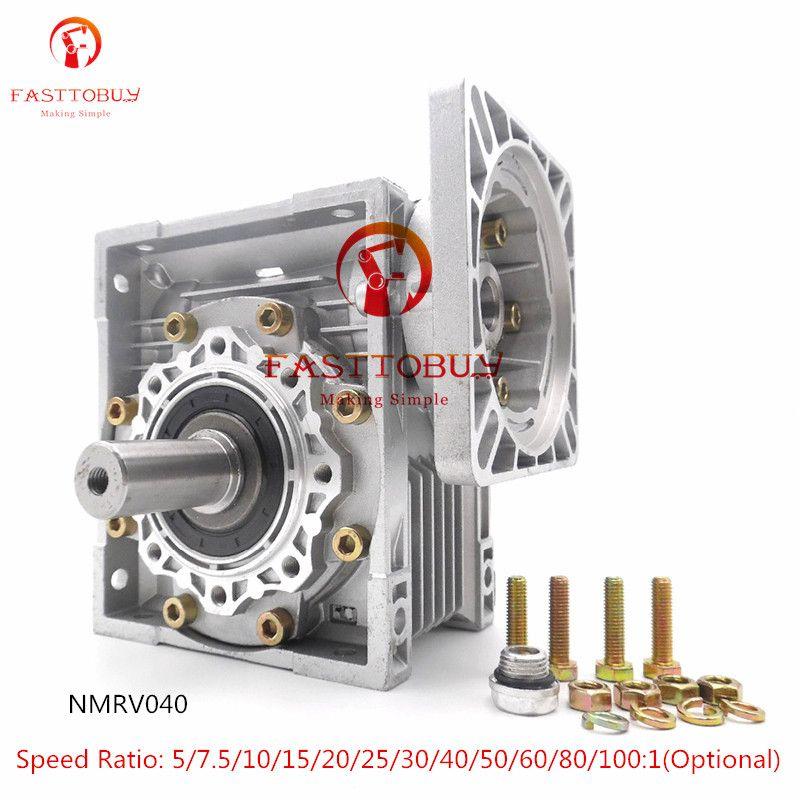 Hohe Effizienz NMRV040 Wurm Getriebe Minderer + Ausgang Welle NEMA34 Geschwindigkeit Verhältnis 5/7. 5/10/15/20/25/30/40 .. 100:1 für Stepper/Servo Motor