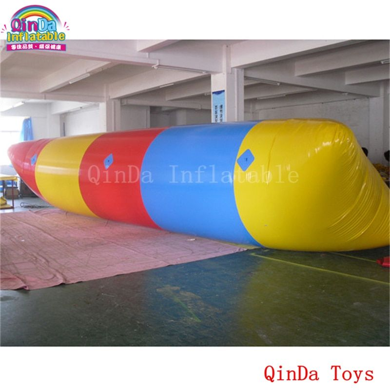 Foldable floating blob inflatable air bag with free pump,0.9mm pvc inflatable water pillow for jumping