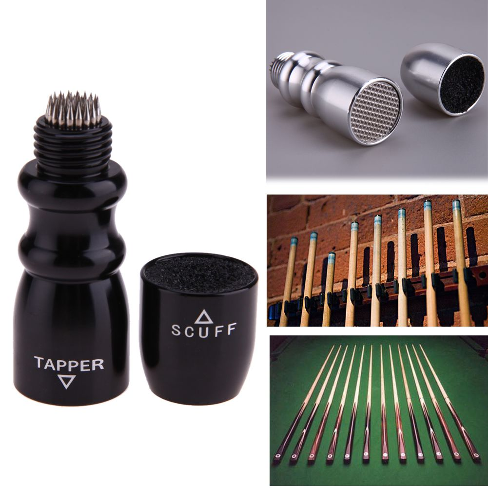 3 in 1 Cone-shape Pool Billiard Cue Stick Shaper Scuffer Tapper Tip Prick Billiard tool for Shaping Scuff Pokes Cue Tips