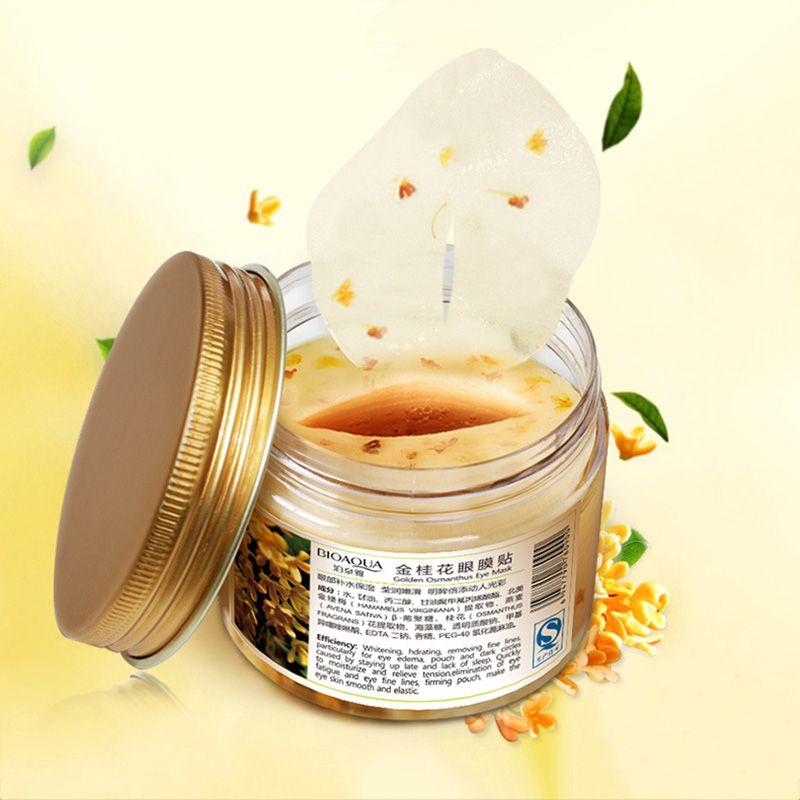 80 pcs/ bottle BIOAQUA Gold Osmanthus eye mask Nourish Moisturizing Gentle skin care Women