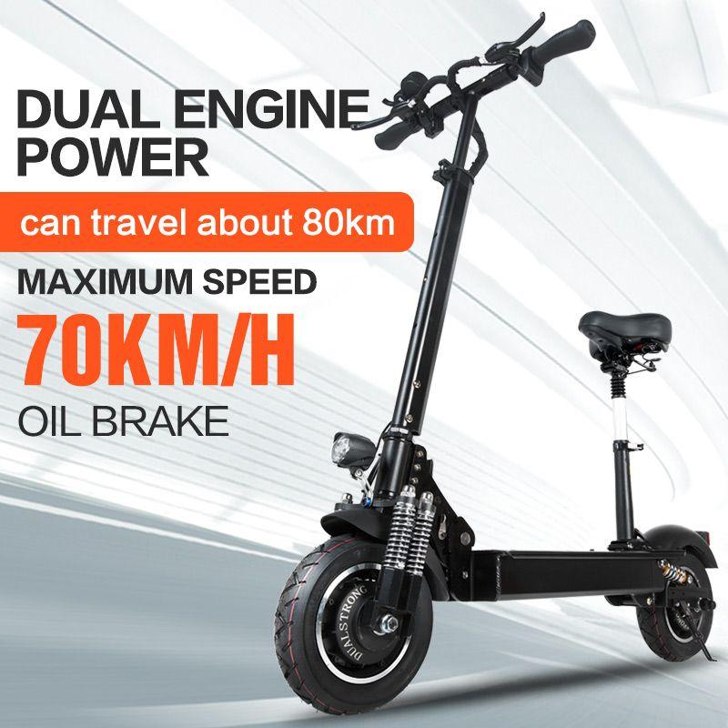 Janobike Elektrische roller doppel drive52V 2000 W mit sitz 10 zoll road reifen klapp elektrische motorrad pedal adultfree lieferung