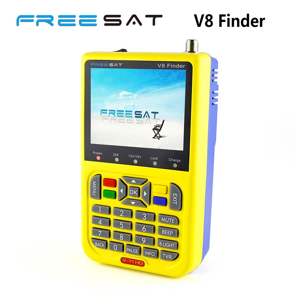 [Genuine] Freesat V8 Finder V-71 HD DVB-S2 High <font><b>Definition</b></font> Satellite Finder MPEG-4 DVB S2 Satellite Meter Satfinder Full 1080P