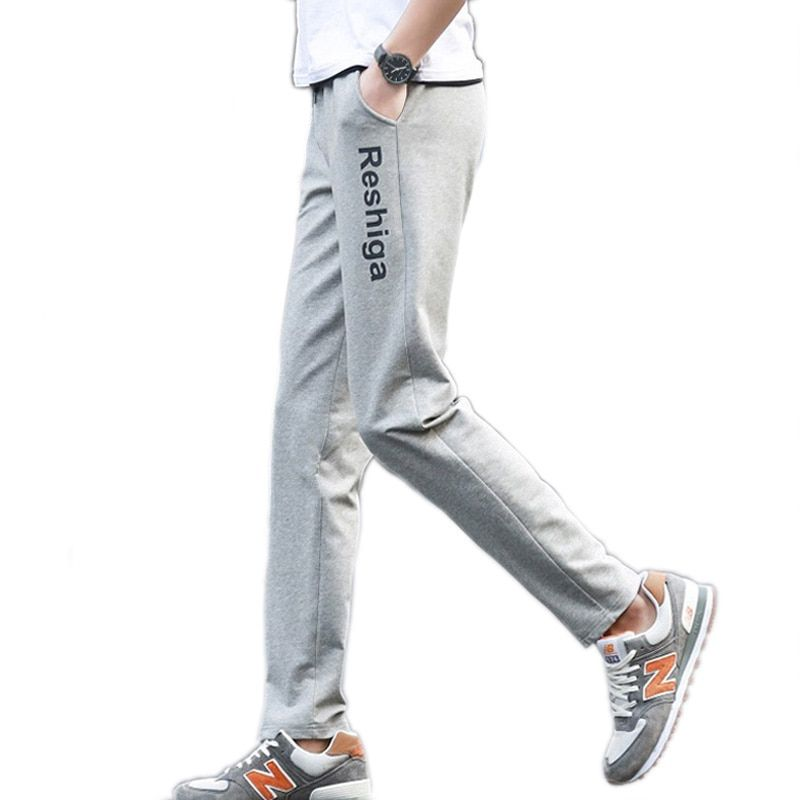 Men pants casual thin spring 2018 new male trousers autumn teenager boys straight pants student plus size black gray 4XL 5XL