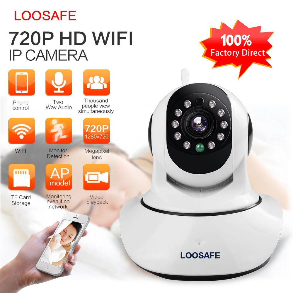 Caméra IP LOOSAFE WIFI HD 720 P Onvif Surveillance vidéo Kamera alarme sécurité réseau maison caméra IP Vision nocturne LS-F2