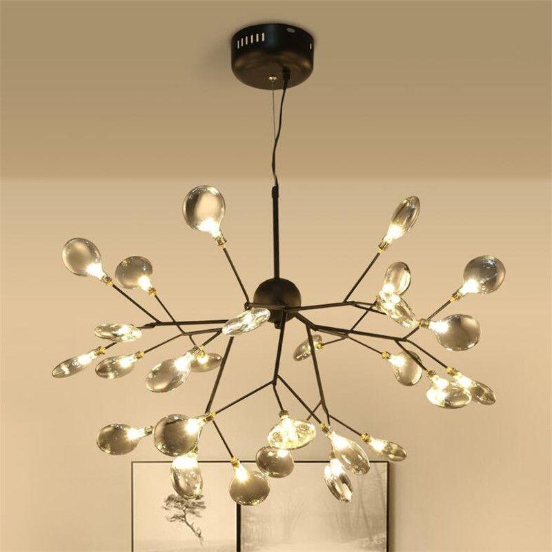 Zweig Firefly Kronleuchter Nordic G4 Led Lustre Kronleuchter Für Wohnzimmer Schmetterling Hängenden Pendent Lampe Glas Lampe Leuchten