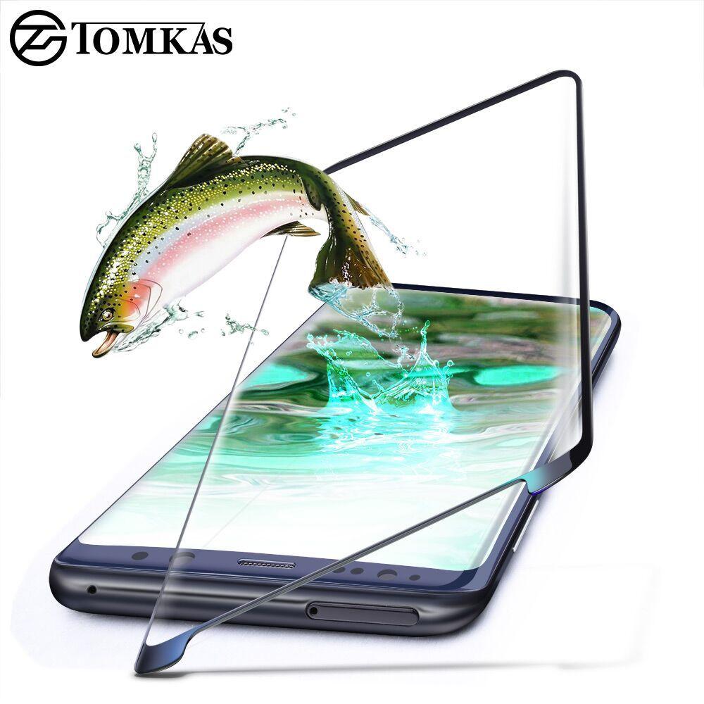 TOMKAS Gehärtetem Glas Für Samsung Galaxy S8 S8 Plus 3D Schutzfolie Displayschutzfolie Glas Für Galaxy S8 S8 + Scratch Proof