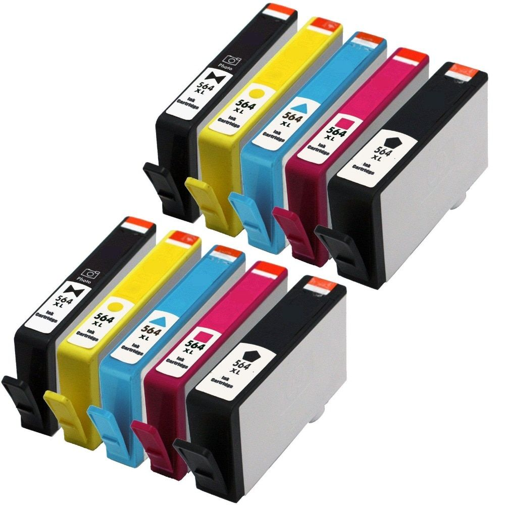 2015 New [hisaint] 10 PK New Ink Cartridge For HP564XLDeskjet 3070a Deskjet 3520