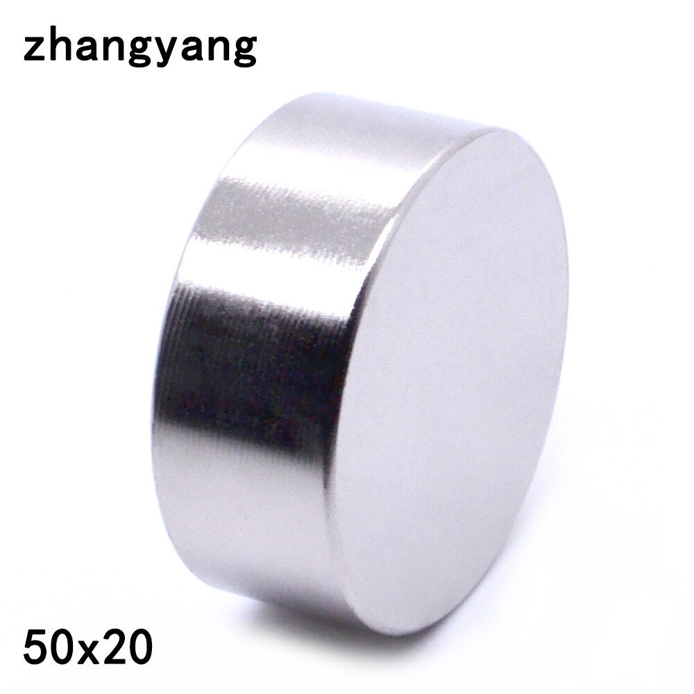 ZHANGYANG 1pcs/lot N40 Neodymium Magnet  50*20mm Small Disc Round Super Strong Magnets 50X20mm Magnets