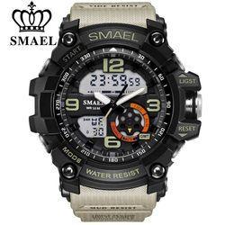 Smael Merek Pria Olahraga Watch LED Digital Tahan Air Kasual Shock Pria Jam Relogios Masculino Pria Hadiah Jam Tangan Militer