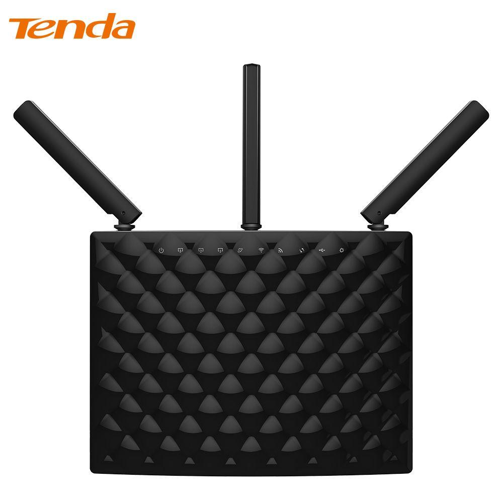 Tenda AC15 1900 Mbps Wireless Dualband Gigabit WIFI Router, WIFI Repeater, 1300 Mbps bei 5 GHz, 600 Mbps bei 2,4 GHz, USB 3.0 Port, IPv6