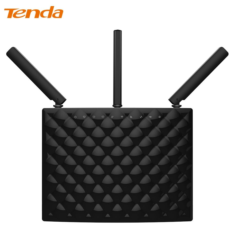 Tenda AC15 1900Mbps Wireless Dual Band Gigabit WIFI Router,WIFI Repeater, 1300Mbps at 5GHz, 600Mbps at 2.4GHz,USB 3.0 Port, IPv6