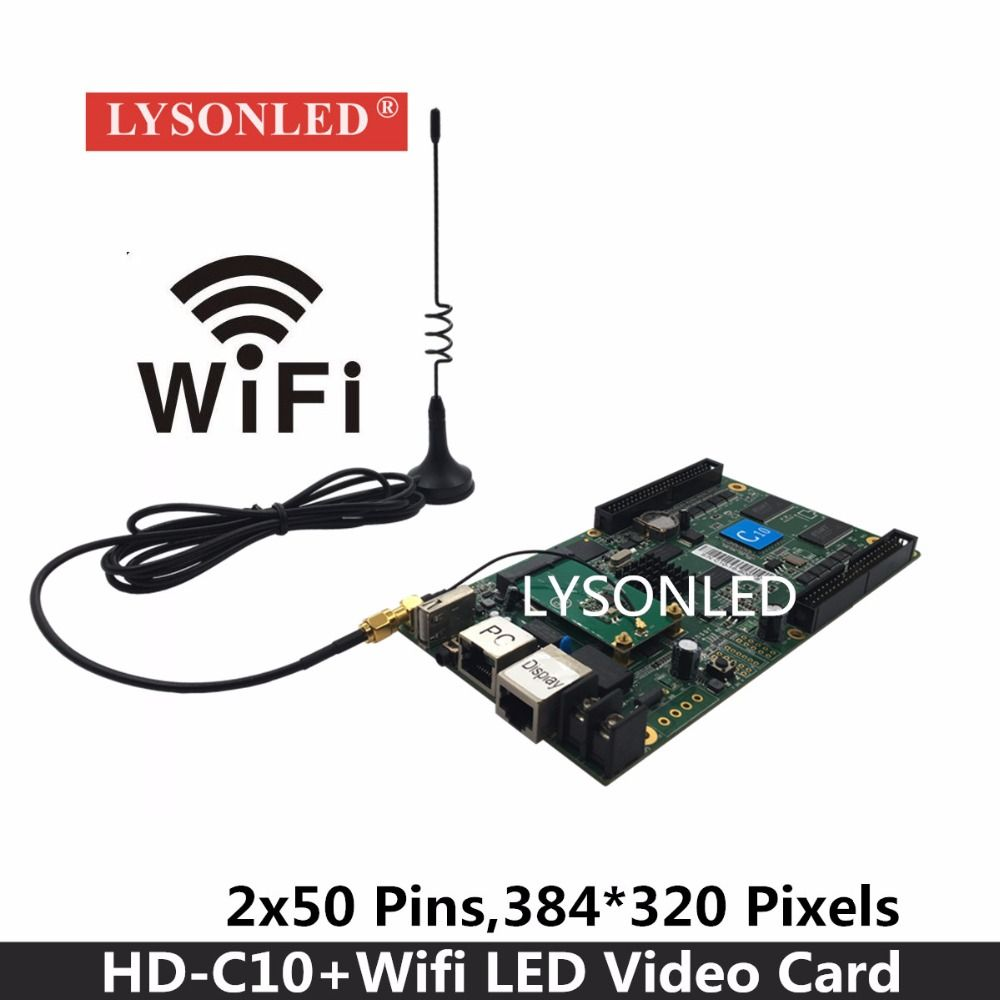 LYSONLED Huidu HD-C10/C10C/HD-C30 Asynchronous Indoor & Outdoor LED Video Display Controller Can add 3G/4G/Wifi /Brightness/Tem